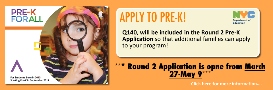 Pre-K Admissions Information